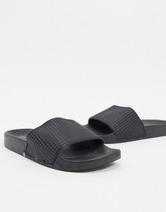 Черные сандалии из искусственной кожи Brave Soul-Черный
