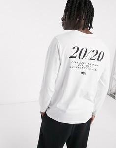 Белый лонгслив свободного кроя Levis Youth 2020