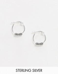Серебряные серьги-кольца ASOS DESIGN-Серебряный