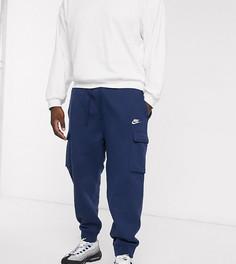 Темно-синие джоггеры карго с манжетами Nike Club Plus-Темно-синий
