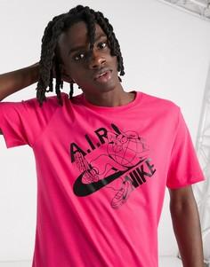 Розовая футболка с логотипом Nike Lugosis Artist Pack-Розовый