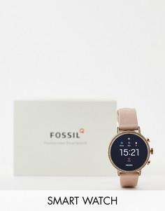 Смарт-часы с трекером сердечного ритма Fossil FTW6015 Q Venture-Розовый