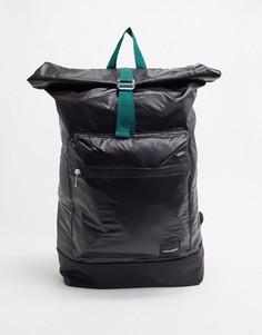 Черный рюкзак с накладкой с логотипом ASOS DESIGN-Темно-синий