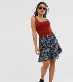 Свободная юбка с цветочным принтом Vero Moda Petite-Мульти