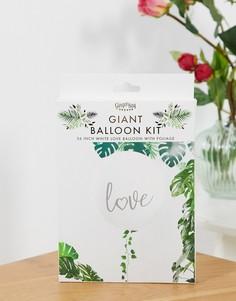 """Гирлянда с надувными шарами с надписью """"love"""" и листьями Ginger Ray-Мульти"""