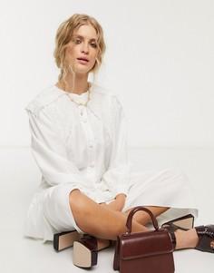 Хлопковое платье-рубашка миди Sister Jane-Белый