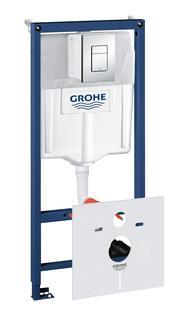 Система инсталляции для унитаза GROHE Rapid SL с панелью смыва Skate Cosmopolitan (3 режима), комплект 4-в-1 (1,13 м) (38775001)