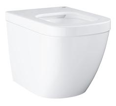 Унитаз напольный приставной безободковый GROHE Euro Ceramic (без сиденья), альпин-белый (39339000)