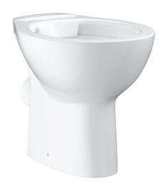 Унитаз напольный безободковый GROHE Bau Ceramic, горизонтальный выпуск (без сиденья), альпин-белый (39430000)