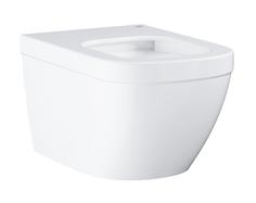 Унитаз подвесной безободковый GROHE Euro Ceramic с гигиеническим покрытием (без сиденья), альпин-белый (3932800H)