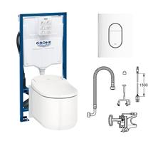 Готовый комплект для туалета GROHE Sensia Arena: подвесной унитаз-биде с инсталляцией, установочным набором и панелью (119060)