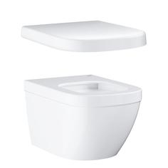 Унитаз подвесной безободковый GROHE Euro Ceramic с сиденьем без микролифта (NW0024-1)