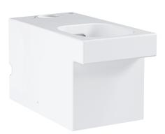 Унитаз GROHE Cube Ceramic напольный, безободковый, универсальный выпуск (без бачка и сиденья), альпин-белый (3948400H)