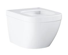 Унитаз подвесной безободковый, компактный GROHE Euro Ceramic гигиеническим покрытием (без сиденья), альпин-белый (3920600H)