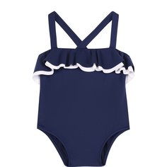Пляжная одежда Il Gufo Слитный купальник с оборками Il Gufo