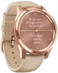 Умные часы Garmin vivomove Luxe S/E EU Rose Gold Light Sand Leather (010-02241-21)