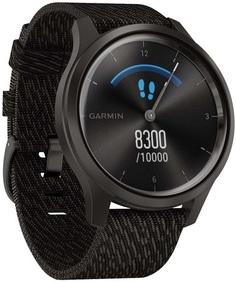Умные часы Garmin vivomove Style S/E EU Graphite Black Pepper Nylon (010-02240-23)