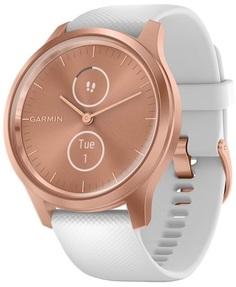 Умные часы Garmin vivomove Style S/E EU Rose Gold White Silicone (010-02240-20)