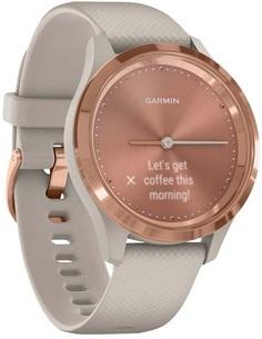 Умные часы Garmin vivomove 3S S/E EU Rose Gold Light Sand Silicone (010-02238-22)