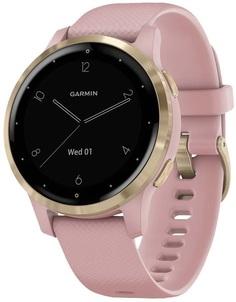 Умные часы Garmin vivoactive 4S GPS Wi-Fi Dust Rose/Light Gold E.EU (010-02172-33)