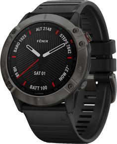 Спортивные часы Garmin fenix 6XSapphireCarbon Gray DLC w/Black BndGPS WatchEMEA (010-02157-11)