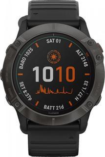Спортивные часы Garmin fenix 6X Pro SolarTi Carbon Gray DLC w/Black BandGPSEMEA (010-02157-21)