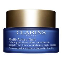 CLARINS Ночной крем для предотвращения первых возрастных изменений с обновляющим действием для нормальной и сухой кожи MULTI-ACTIVE