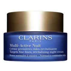 CLARINS Ночной крем для предотвращения первых возрастных изменений с обновляющим действием для нормальной и комбинированной кожи MULTI-ACTIVE