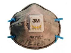 Защитная маска 3M 9922P класс защиты FFP2 (до 12 ПДК) с клапаном 7100060446