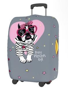 Чехол для чемодана RATEL Happy Valentines Day размер L Pink Glasses