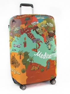 Чехол для чемодана RATEL Travel размер L Map of Mediterranean