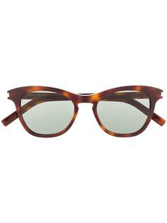 Saint Laurent Eyewear солнцезащитные очки SL356 в оправе бабочка