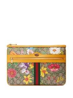 Gucci клатч Ophidia с принтом Flora