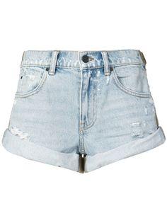 Alexander Wang джинсовые шорты с подворотами