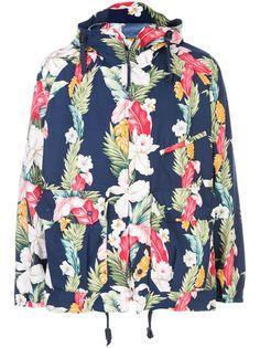 Engineered Garments дождевик с цветочным принтом