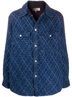 Isabel Marant стеганая джинсовая куртка Hontario