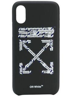 Off-White чехол для iPhone XS с принтом