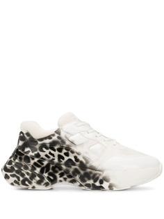 Pinko кроссовки с леопардовым принтом