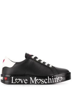 Love Moschino logo print sneakers