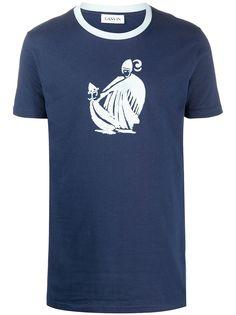 LANVIN футболка с принтом Mother and Child