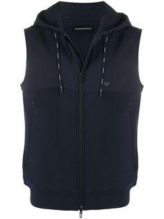 Emporio Armani куртка без рукавов с капюшоном