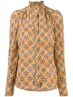 Isabel Marant блузка с высоким воротником и узором