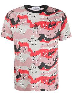 Stone Island футболка с камуфляжным принтом