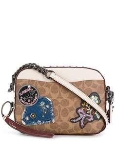 Coach прямоугольная сумка с заплатками