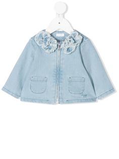 Il Gufo джинсовая куртка с цветочной аппликацией