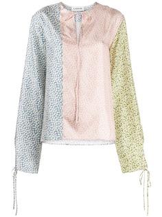 LANVIN блузка с цветочным принтом