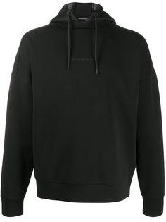 Emporio Armani свитер с капюшоном и логотипом