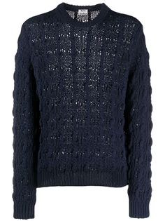 Acne Studios cable knit relaxed-fit jumper