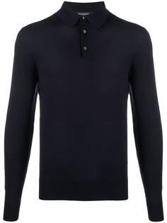 Ermenegildo Zegna трикотажная рубашка-поло с длинными рукавами