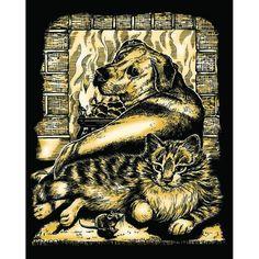 Гравюра Sequin Art «Три товарища» золото